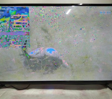 Негативное изображение в телевизоре LED HDTV