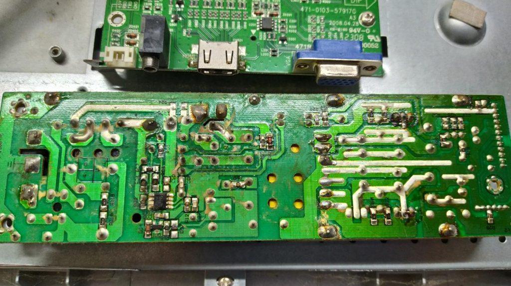 Не исправен блок питания 465-0103-17006G-A1