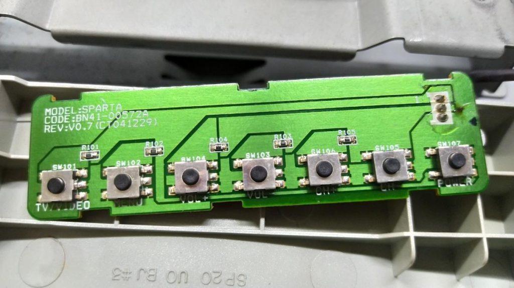 Ремонт платы с кнопками в Samsung LE20S52BP