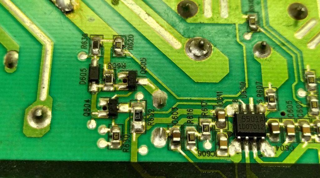 Ремонт блока питания PLHL-T605A T606A фото 1