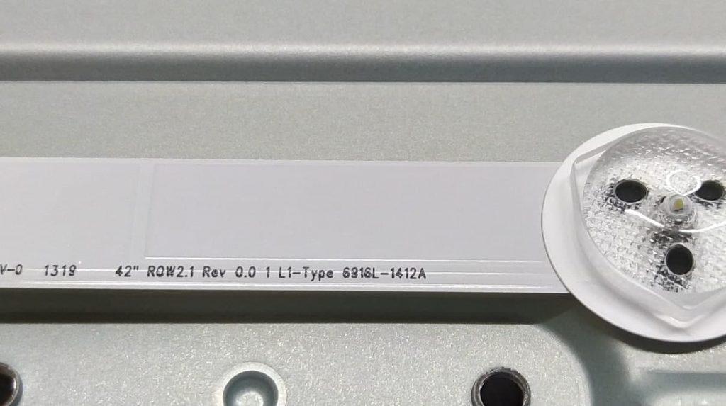 Маркировка планки подсветки L1-Type 6916L-1412A