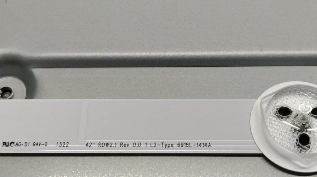 Маркировка планки подсветки L2-Type 6916L-1414A