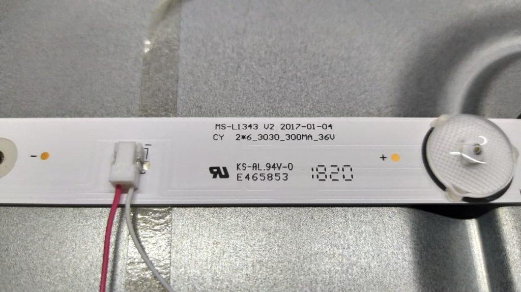 Маркировка MS-L1343 V2 подсветки Nomi 32HT11