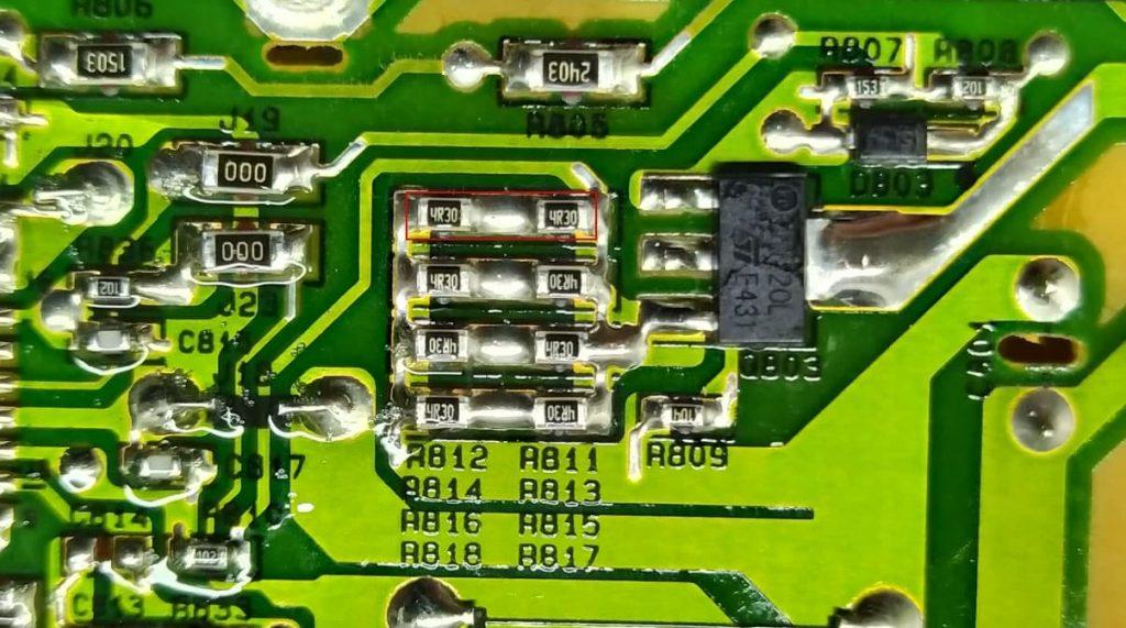 Доработка по уменьшению тока на подсветку EAX65388006